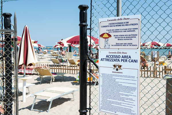 spiaggia bellaria con area cani